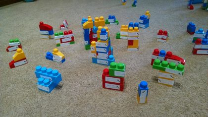 A compiled version of the blocks representing the talents each of us shares with this community of faith.